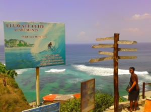 Awal masuk di pantai Suluban