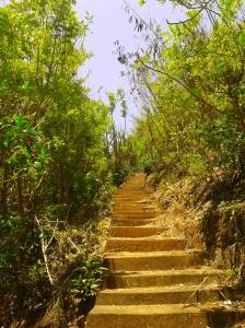 anak tangga di pantai nyang-nyang