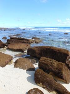 kondisi apik pantai Ngalur sewaktu surut