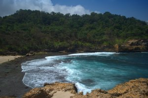 Ini view Pathuk Gebang dari tebing