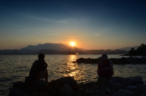 Melting kalo sunsetan kayak gini | Ian & Mbak Rumba