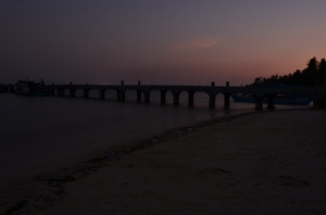 After sunset di dermaga Pahawang