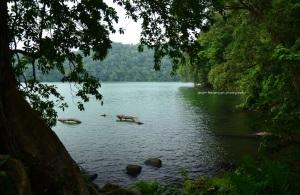 Danau yang kehijau-hijauan