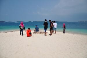 pulau perak dengan pasir putihnya